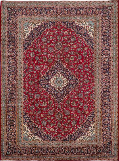 Traditional Red Area rug 9x12 Persian Hand-knotted 210714