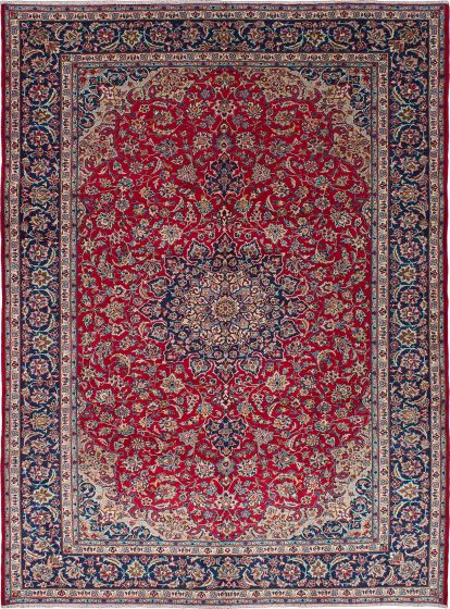 Vintage Red Area rug 9x12 Persian Hand-knotted 215202
