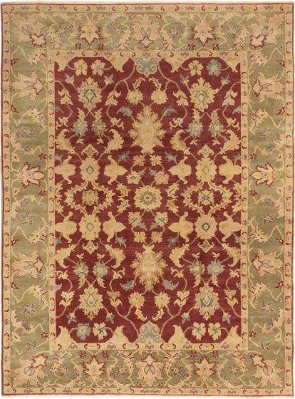 Bordered  Traditional Red Area rug 9x12 Turkish Hand-knotted 280794