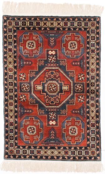 GeometricTraditional Brown Area rug 3x5 Chinese Hand-knotted 203695