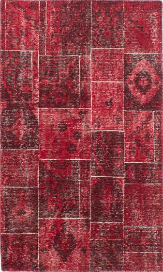 Bohemian  Transitional Red Area rug 5x8 Indian Hand-knotted 220083
