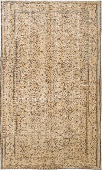 Traditional Ivory Area rug 5x8 Turkish Hand-knotted 230040