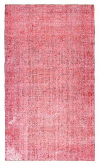 Bordered  Transitional Red Area rug 5x8 Turkish Hand-knotted 362981