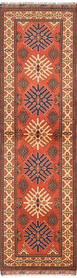 Tribal Brown Runner rug 10-ft-runner Afghan Hand-knotted 202951
