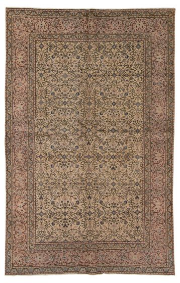 Floral  Traditional Ivory Area rug 4x6 Turkish Hand-knotted 317545