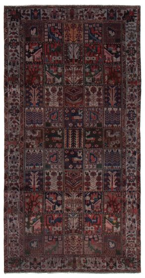 Bordered  Transitional Red Area rug Unique Persian Hand-knotted 367195