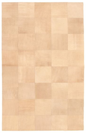 Accent  Transitional Brown Area rug 5x8 Argentina Handmade 340281