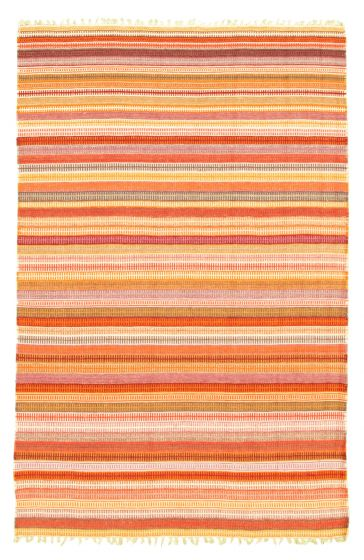 Flat-weaves & Kilims  Transitional Brown Area rug 3x5 Indian Flat-weave 344478