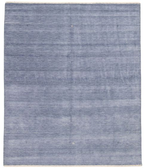 Gabbeh  Tribal Blue Area rug 6x9 Indian Hand-knotted 331203
