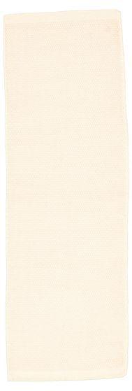 Bohemian  Solid Ivory Runner rug 8-ft-runner Indian Hand Loomed 316731