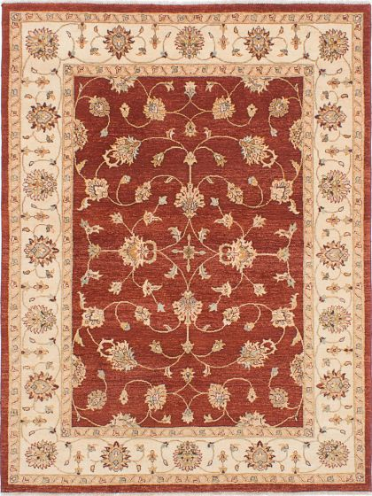 Traditional Red Area rug 5x8 Indian Hand-knotted 223695