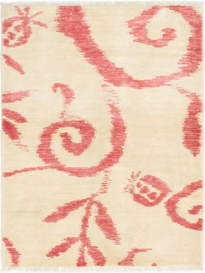 Casual  Transitional Ivory Area rug 3x5 Afghan Hand-knotted 280567