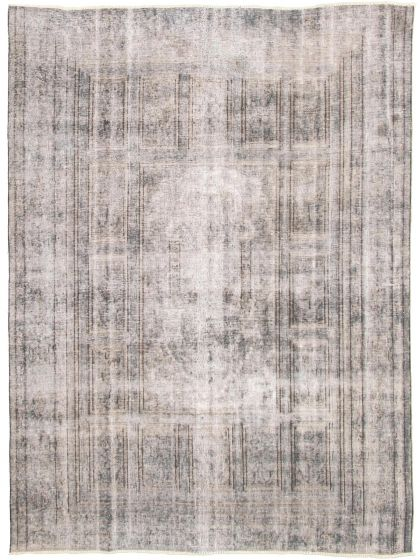 Overdyed  Transitional Grey Area rug 6x9 Turkish Hand-knotted 330354