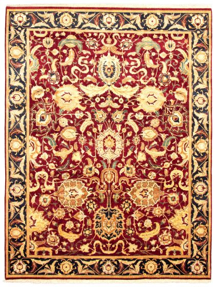 Bordered  Traditional Red Area rug 9x12 Pakistani Hand-knotted 336049