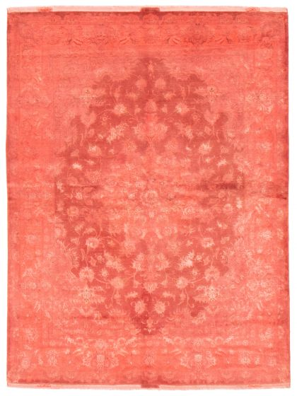 Overdyed  Transitional Pink Area rug 4x6 Persian Hand-knotted 367058