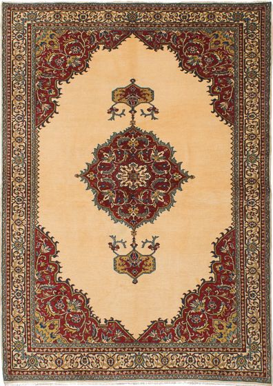 Traditional Ivory Area rug 4x6 Turkish Hand-knotted 230108