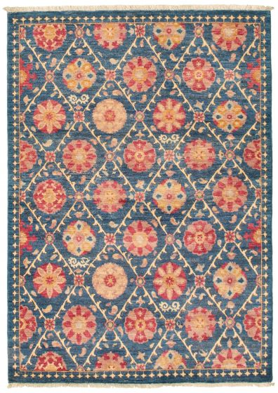 Floral  Transitional Blue Area rug 3x5 Pakistani Hand-knotted 342178