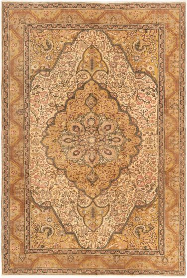 Bordered  Traditional Brown