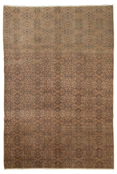 Floral  Traditional Ivory Area rug 6x9 Turkish Hand-knotted 318029