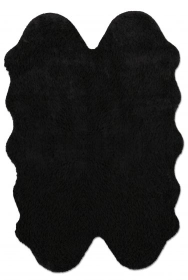 Accent  Solid Black Area rug 3x5 Imported Handmade 328563