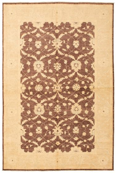 Bordered  Traditional Brown Area rug 5x8 Afghan Hand-knotted 336242