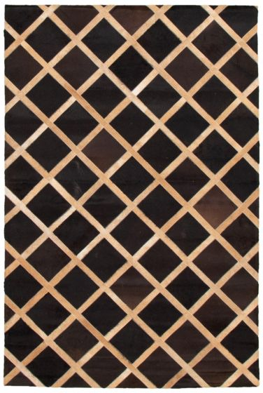 Accent  Transitional Brown Area rug 3x5 Argentina Handmade 340285