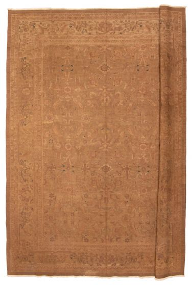 Bordered  Traditional Brown Area rug 12x15 Chinese Flat-weave 351078