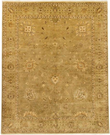 Traditional Ivory Area rug 6x9 Indian Hand-knotted 164664