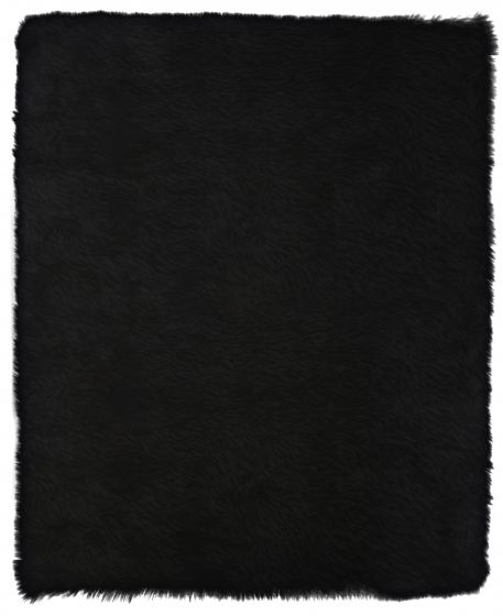 Accent  Solid Black Area rug 2x3 Imported Handmade 328584