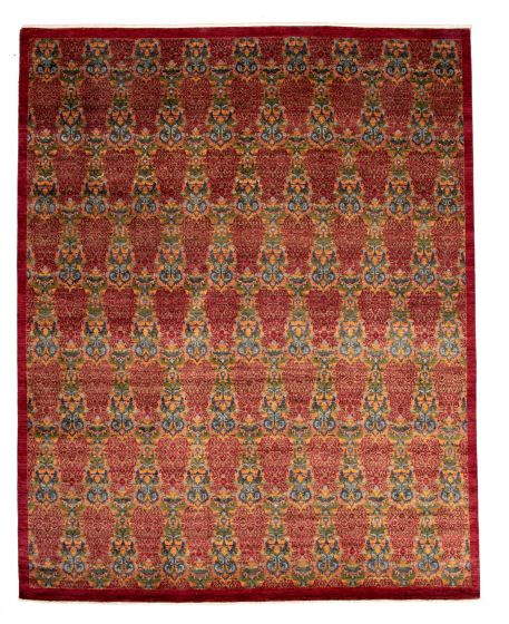 Casual  Transitional Red Area rug 12x15 Pakistani Hand-knotted 345143