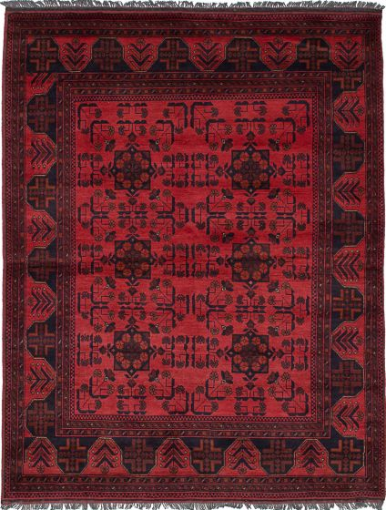 Traditional  Tribal Brown Area rug 4x6 Afghan Hand-knotted 236189