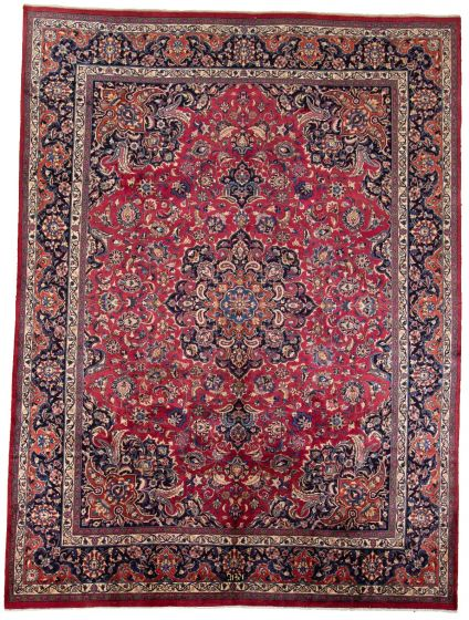 Bordered  Vintage Red Area rug 9x12 Persian Hand-knotted 308312
