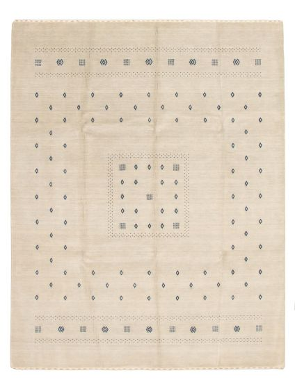 Gabbeh  Tribal Grey Area rug 6x9 Indian Hand-knotted 331506