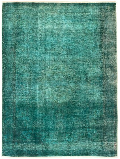 Bordered  Transitional Green Area rug 4x6 Turkish Hand-knotted 331585