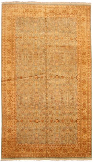 Bordered  Traditional Blue Area rug Unique Pakistani Hand-knotted 330542