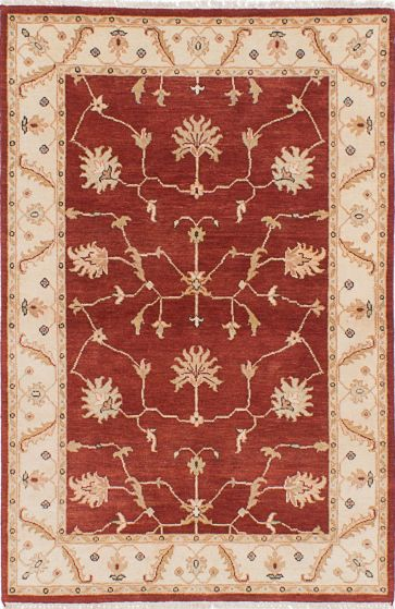 Traditional Red Area rug 3x5 Indian Hand-knotted 223888