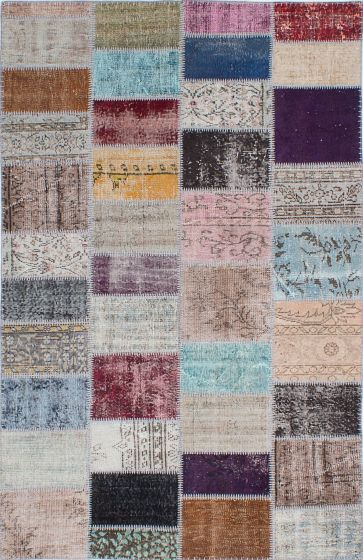 Transitional Grey Area rug 5x8 Turkish Hand-knotted 231843