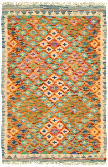 Bordered  Flat-weaves & Kilims Multi Area rug 3x5 Turkish Flat-weave 330167