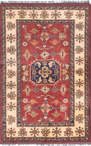 Tribal Orange Area rug 3x5 Afghan Hand-knotted 203260