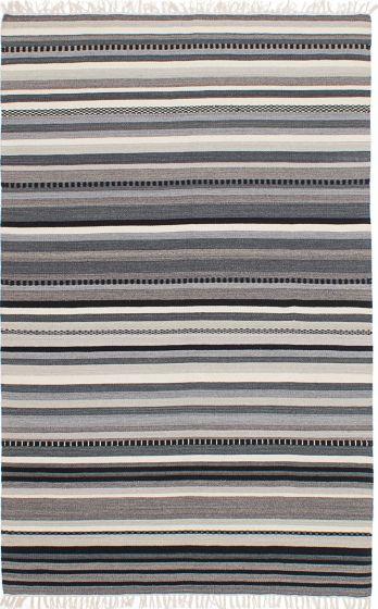Flat-weaves & Kilims  Transitional Grey Area rug 5x8 Turkish Flat-weave 224464