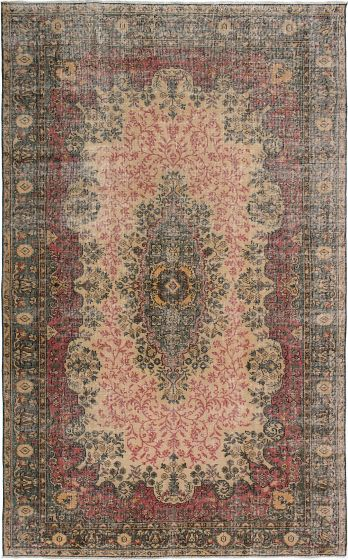 Traditional Ivory Area rug Unique Turkish Hand-knotted 231725