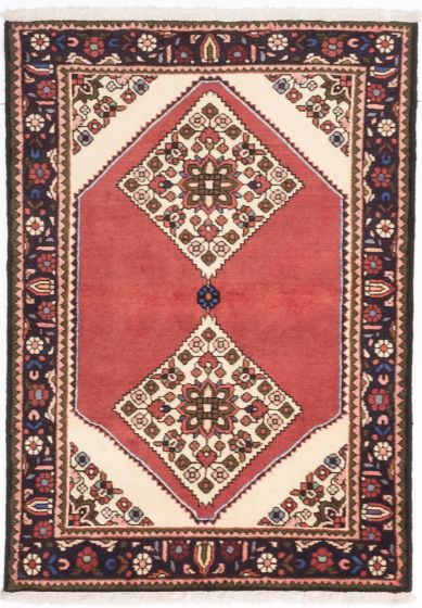 Traditional Brown Area rug 3x5 Persian Hand-knotted 203876