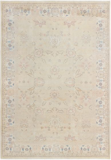Bordered  Traditional Yellow Area rug 6x9 Turkish Hand-knotted 280777