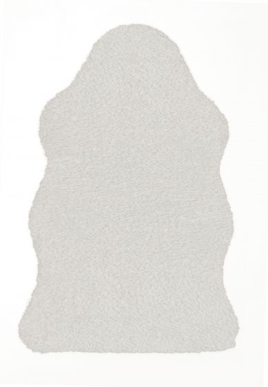 Accent  Solid Ivory Area rug 2x3 Imported Handmade 328554