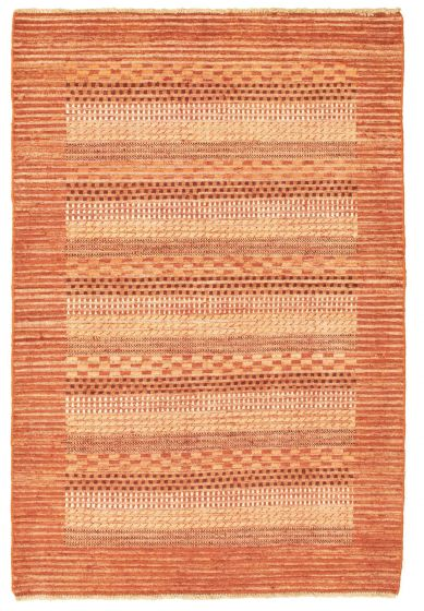 Carved  Transitional Brown Area rug 3x5 Pakistani Hand-knotted 331323