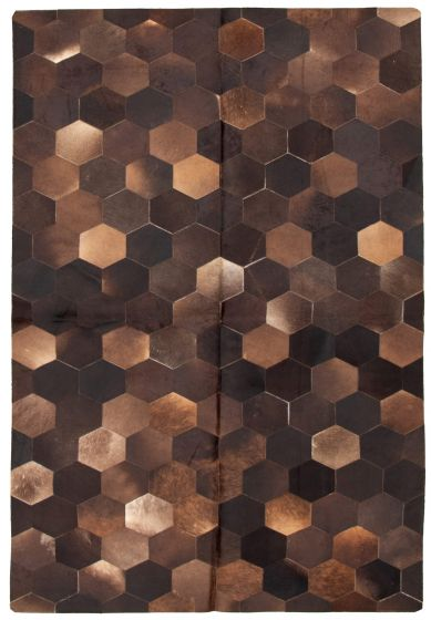 Accent  Transitional Brown Area rug 5x8 Argentina Handmade 331713