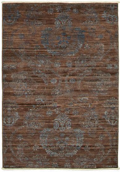 Casual  Transitional Brown Area rug 3x5 Pakistani Hand-knotted 338980