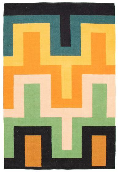 Flat-weaves & Kilims  Transitional Multi Area rug 5x8 Turkish Flat-weave 344435