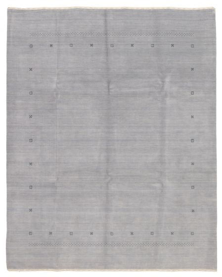Gabbeh  Tribal Grey Area rug 6x9 Indian Hand-knotted 331218
