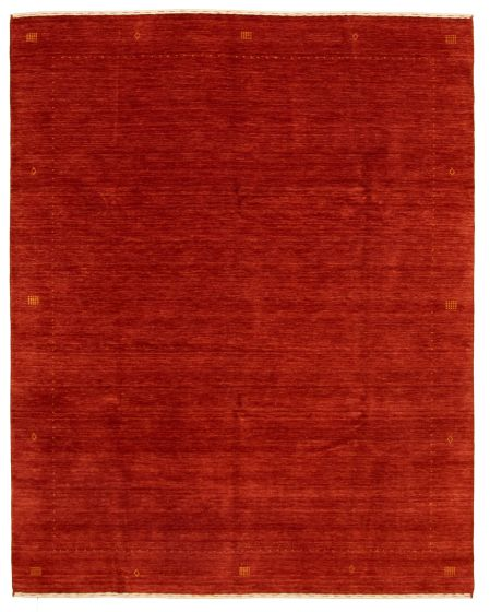 Gabbeh  Tribal Brown Area rug 6x9 Indian Hand-knotted 331235